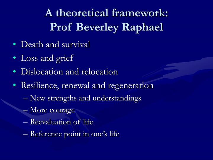 A theoretical framework: