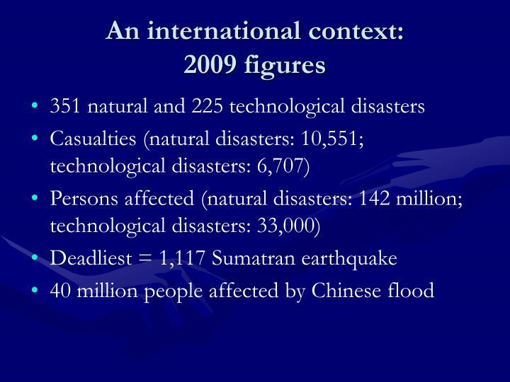 An international context: