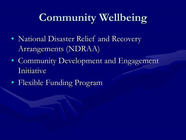 Community Wellbeing