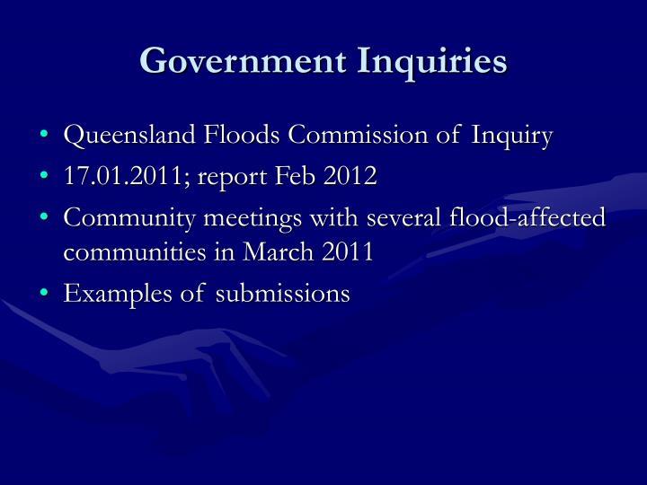 Government Inquiries