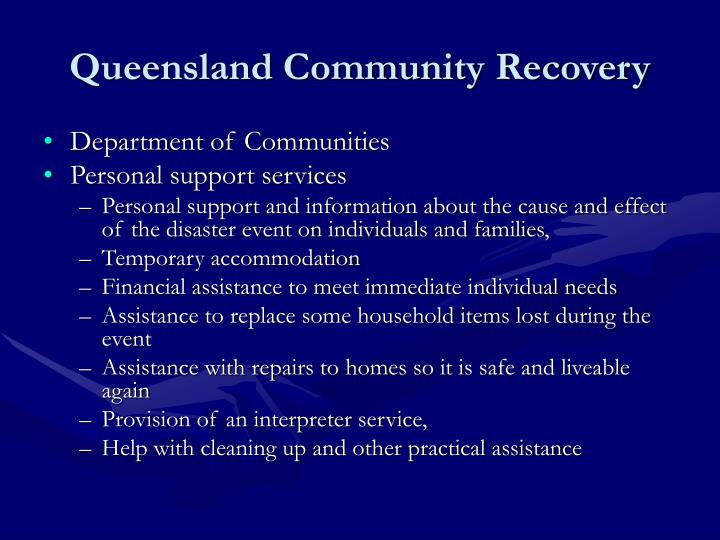 Queensland Community Recovery