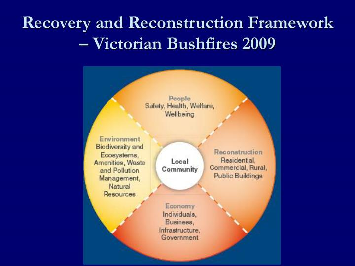 Recovery and Reconstruction Framework – Victorian Bushfires 2009