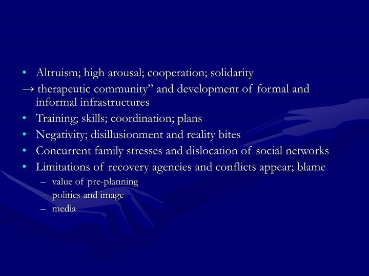 Altruism; high arousal; cooperation; solidarity