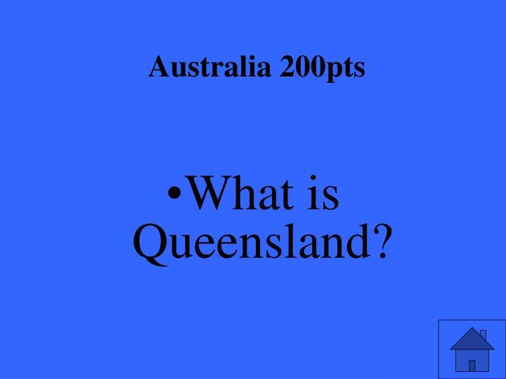 Australia 200pts