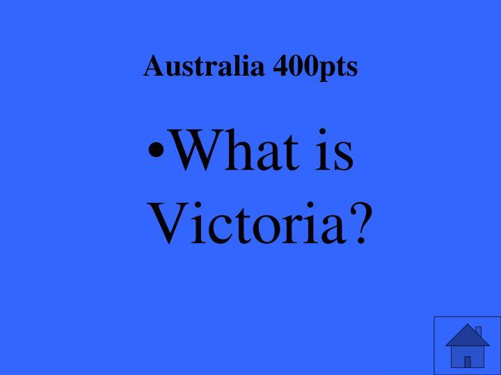 Australia 400pts