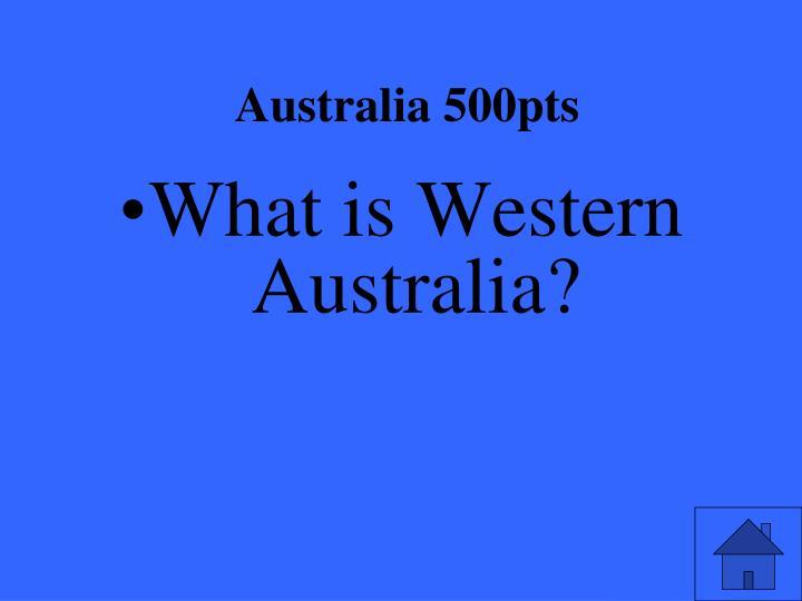 Australia 500pts