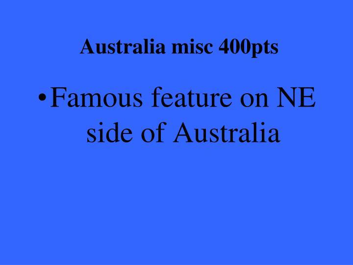 Australia misc 400pts