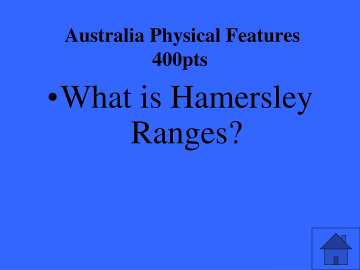 Australia Physical Features 400pts