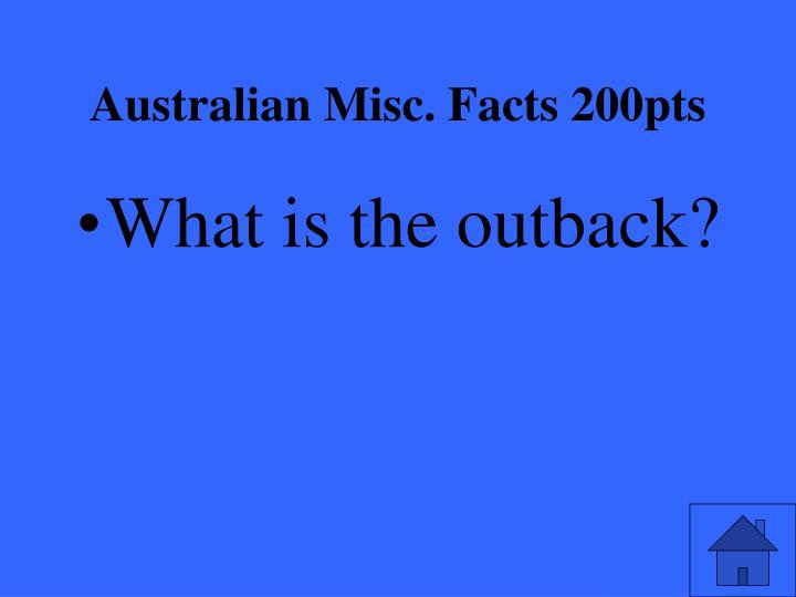 Australian Misc. Facts 200pts