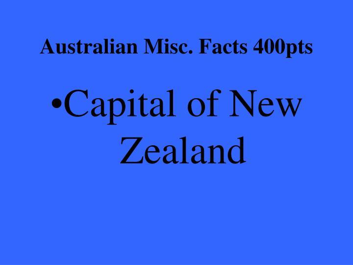 Australian Misc. Facts 400pts