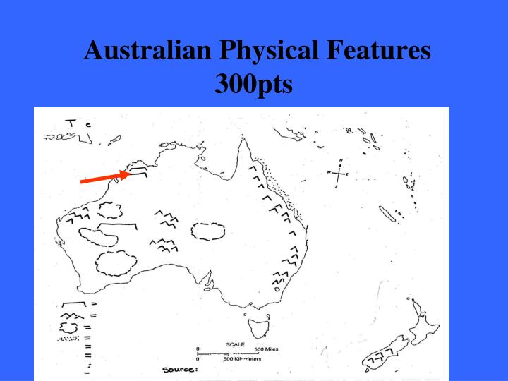 Australian Physical Features 300pts