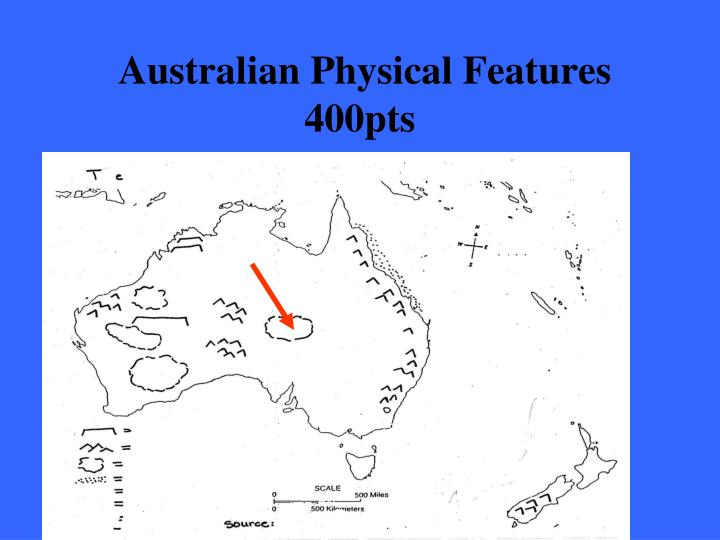 Australian Physical Features 400pts