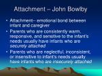 attachment john bowlby