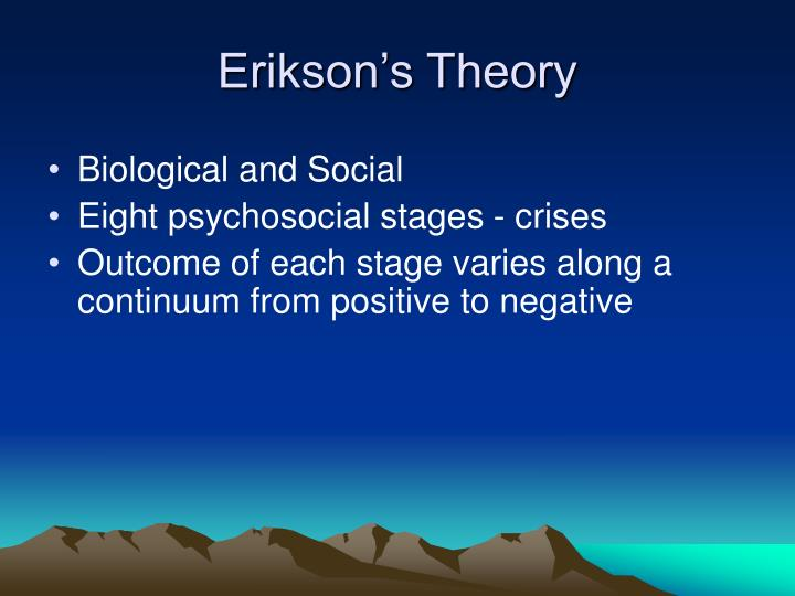 Erikson's Theory