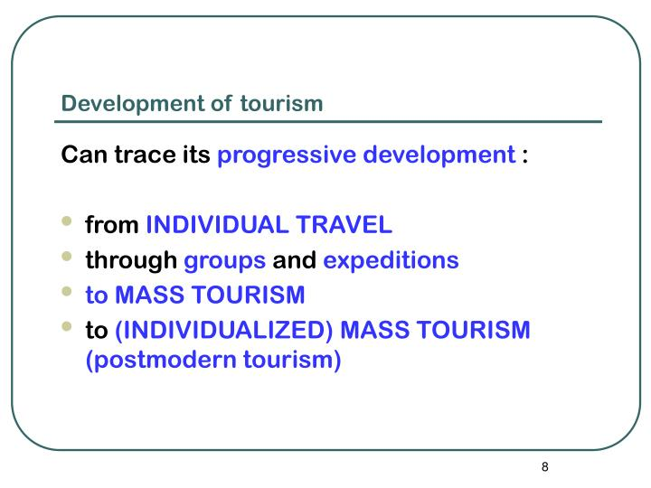Tourism and postmodernism