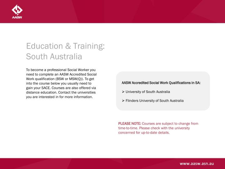 Education & Training: