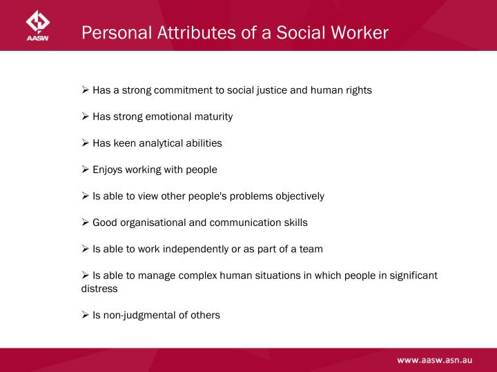 Personal Attributes of a Social Worker