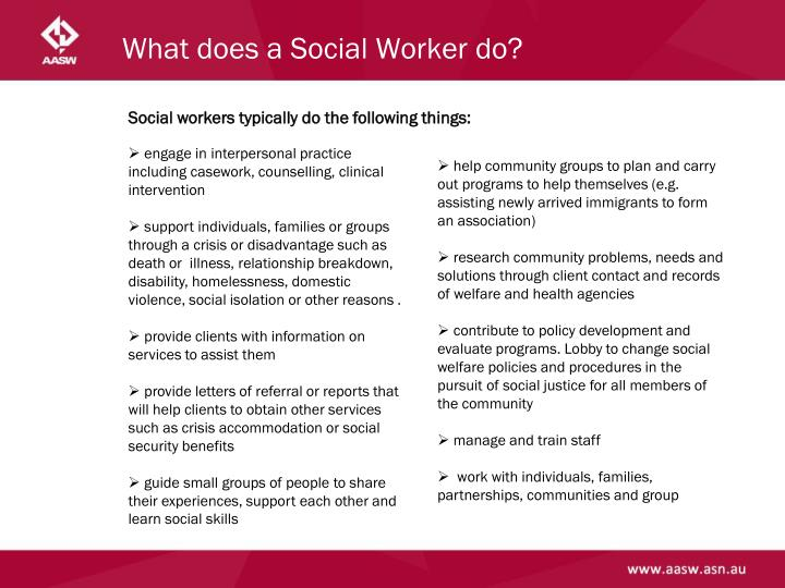 What does a Social Worker do?