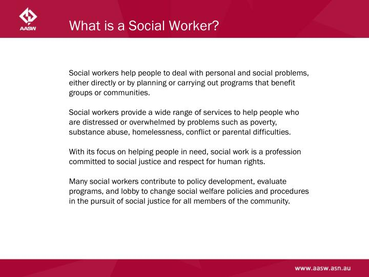 What is a Social Worker?