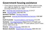 government housing assistance
