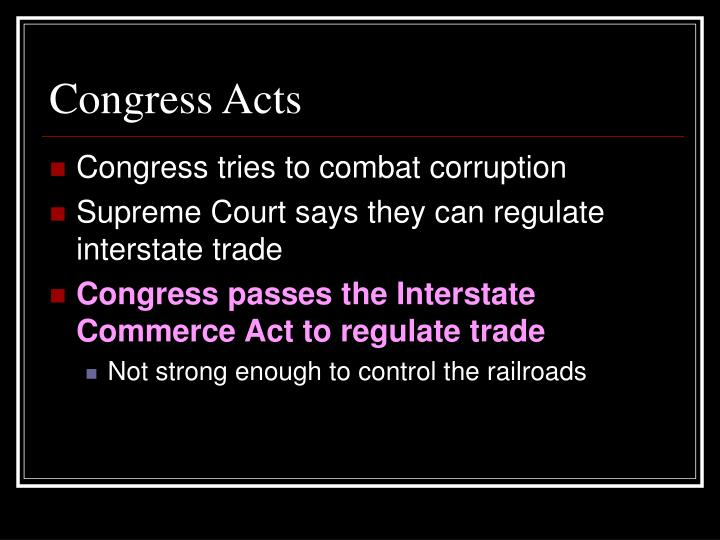 Congress Acts