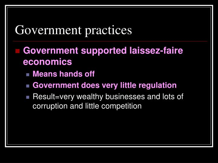 Government practices
