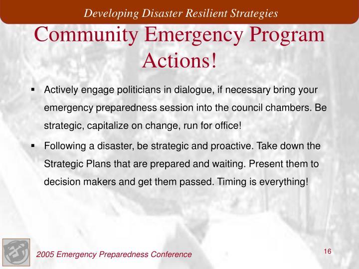 Community Emergency Program
