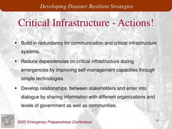 Critical Infrastructure - Actions!