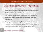 critical infrastructure successes
