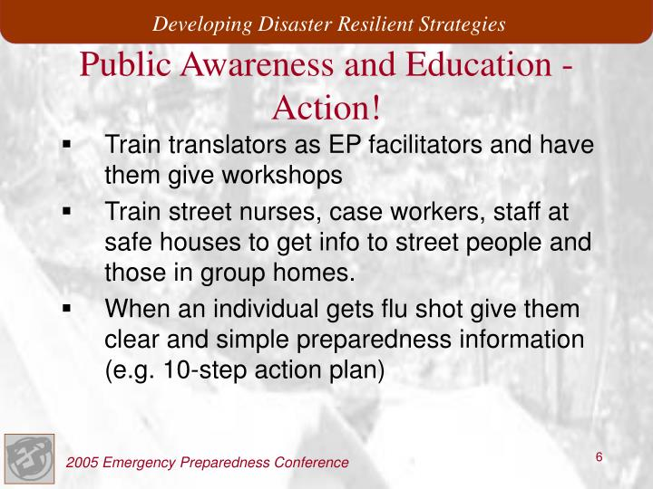 Public Awareness and Education -Action!