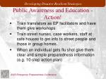 public awareness and education action