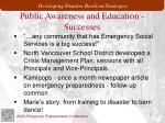 public awareness and education successes