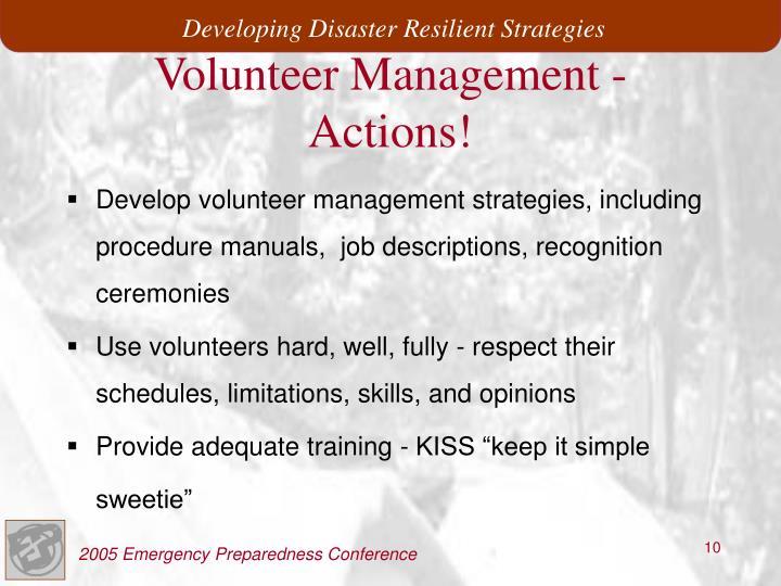 Volunteer Management -