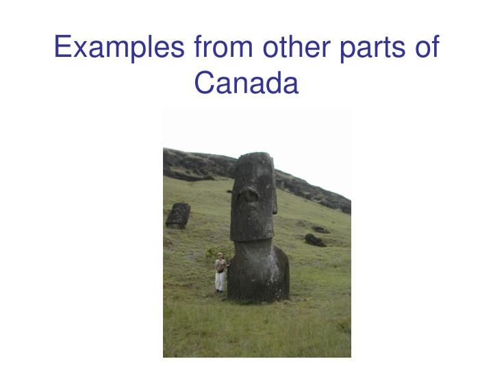 Examples from other parts of Canada