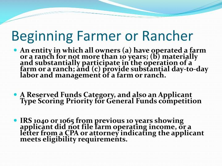 Beginning Farmer or Rancher