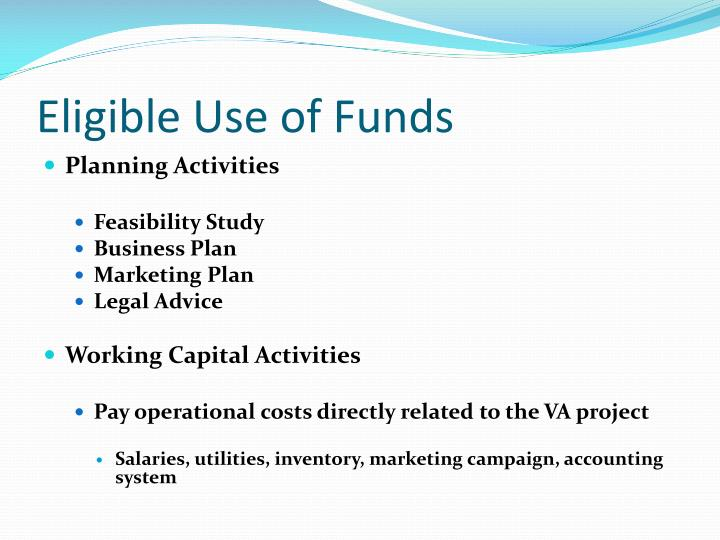 Eligible Use of Funds