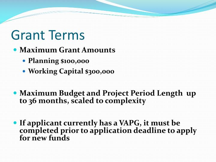 Grant Terms