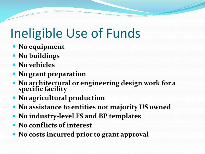Ineligible Use of Funds