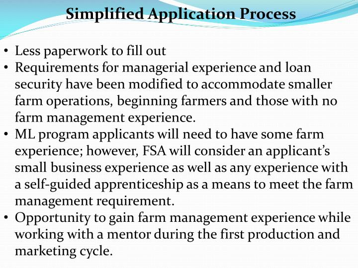 Simplified Application Process