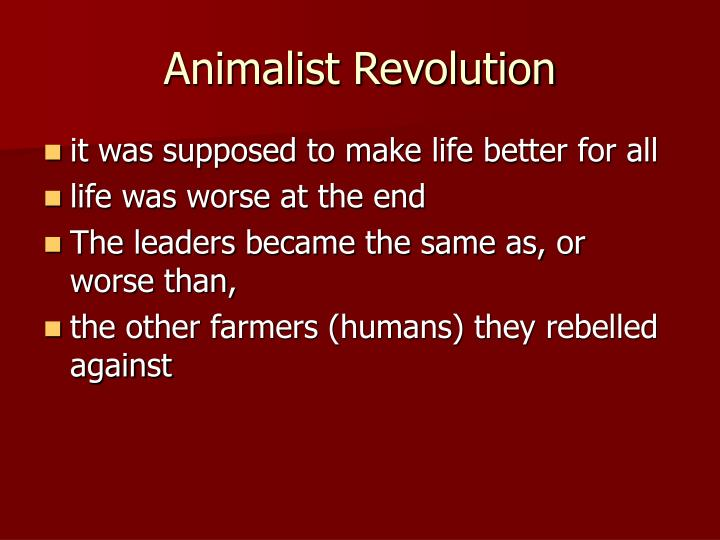 Animalist Revolution