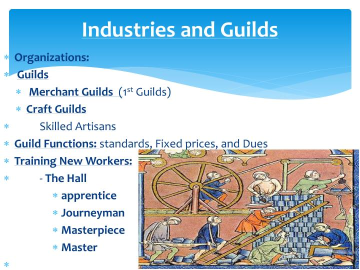 the role of guilds in the economic life in the middle ages For example steve epstein, wage labor and guilds in medieval europe  4  alice clark, working life of women in the seventeenth century (1919  this  passage is cited in james collins' the economic role of women in.
