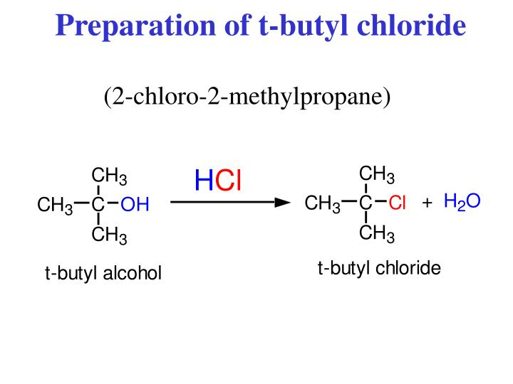 synthesis of t pentyl chloride The powerpoint ppt presentation: t-butyl (t-pentyl) chloride synthesis is the property of its rightful owner do you have powerpoint slides to share if so, share.