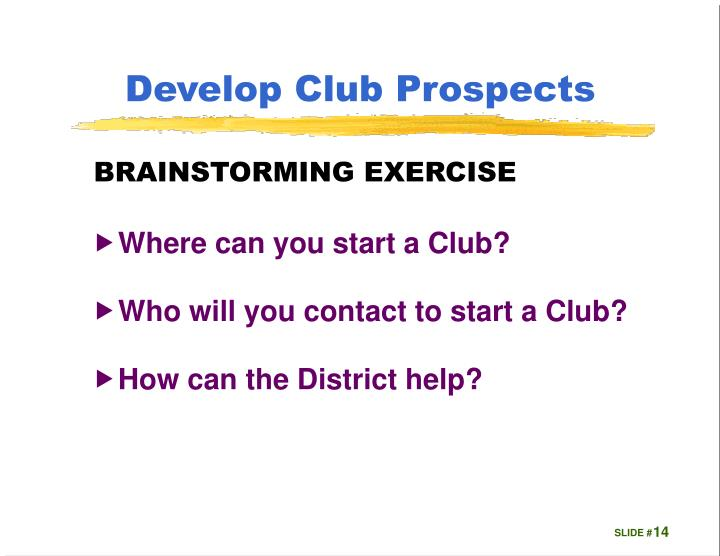 Develop Club Prospects