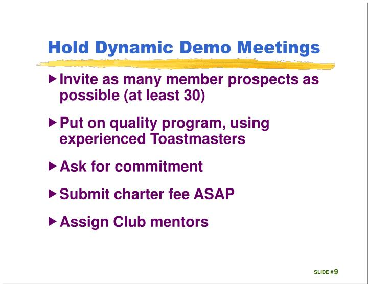 Hold Dynamic Demo Meetings