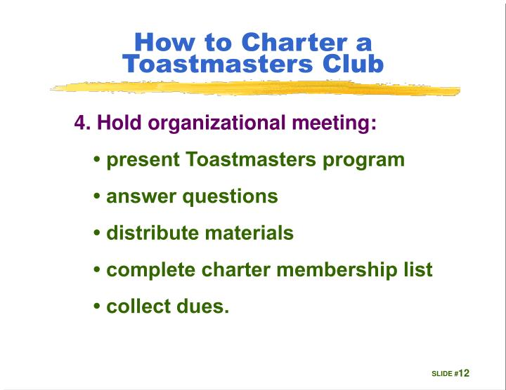 How to Charter a Toastmasters Club