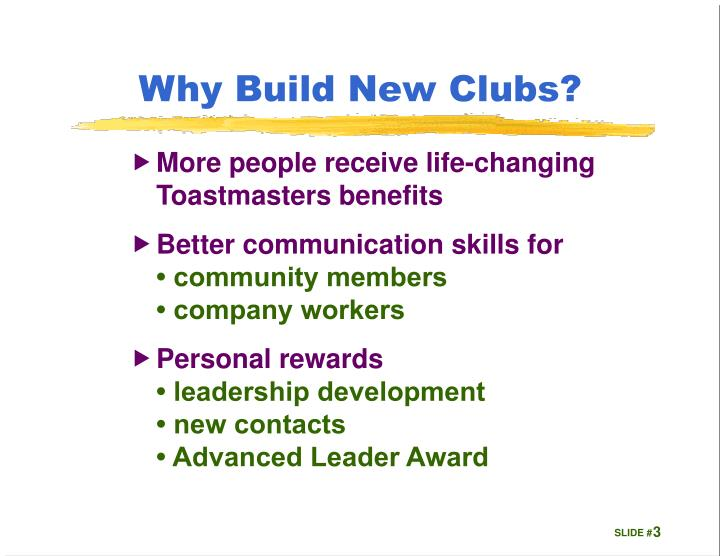 Why Build New Clubs?