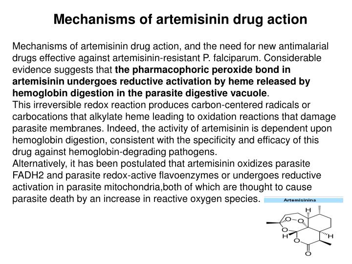Mechanisms of artemisinin drug action