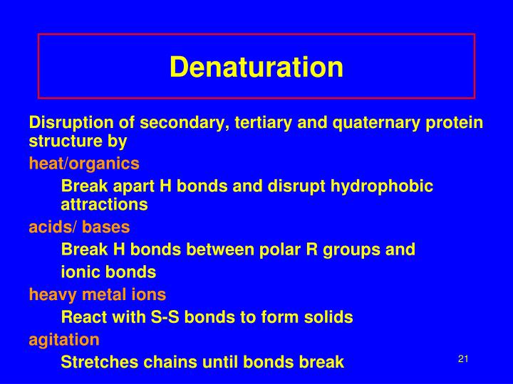 Denaturation