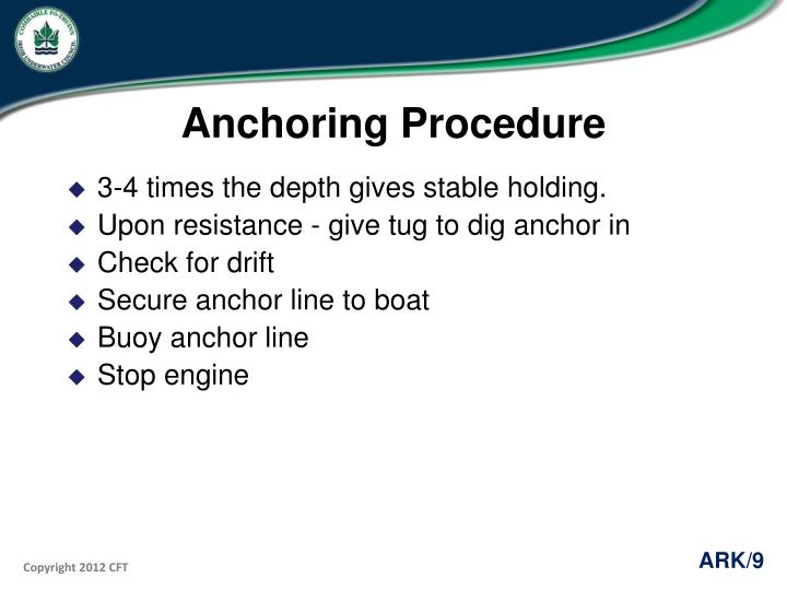 Anchoring Procedure