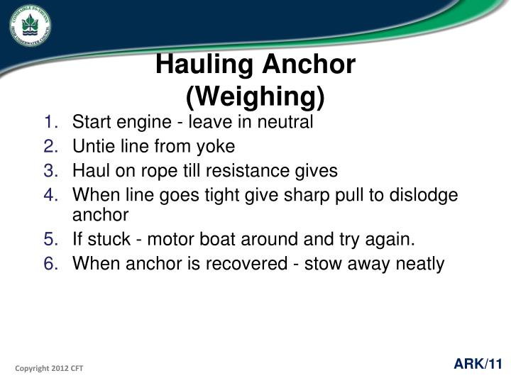 Hauling Anchor